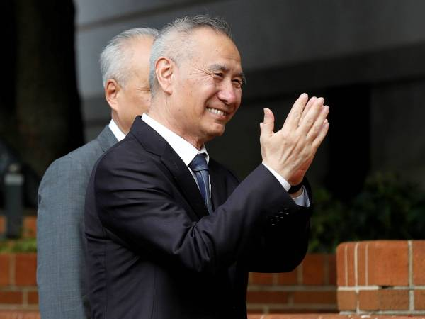 <p>Viceprimer ministro chino, Liu He, en Washington. Créditos: Reuters</p>