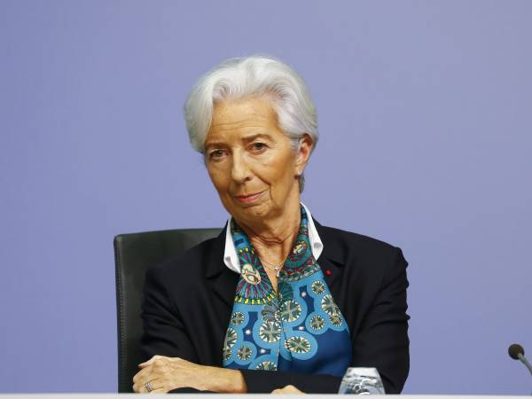 <p>Christine Lagarde, presidenta del Banco Central Europeo.</p>